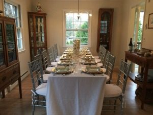 Thanksgiving dinner table